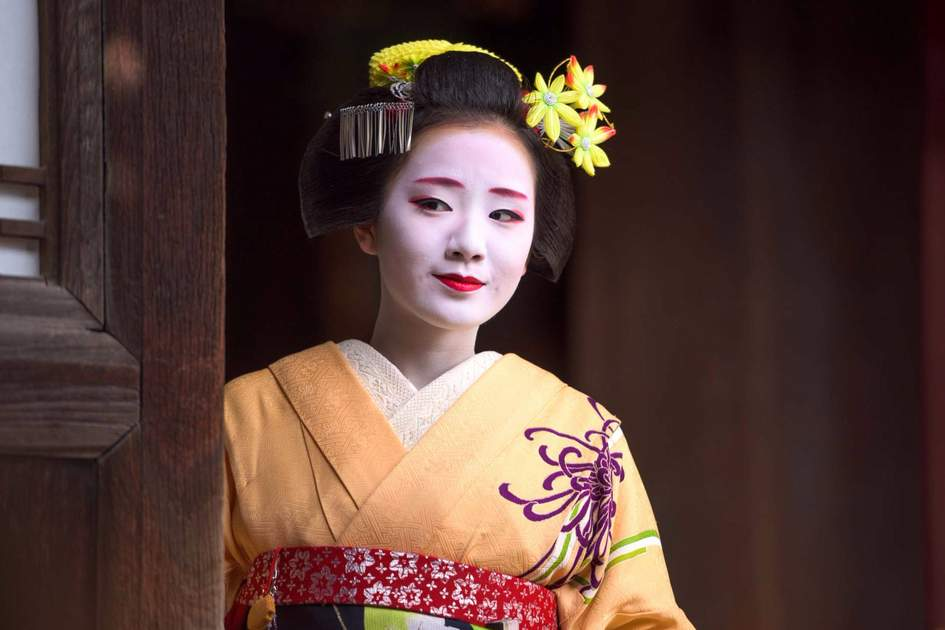 A woman in traditional Maiko in Kyoto. Photo: Shutterstock