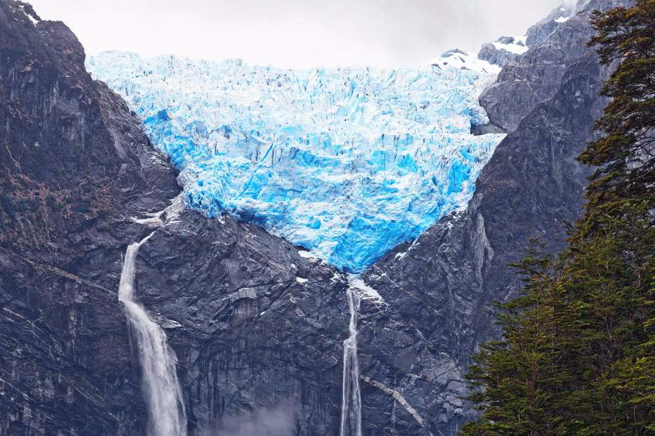 Hanging Glacier. Queulat, Patagonia, Chile