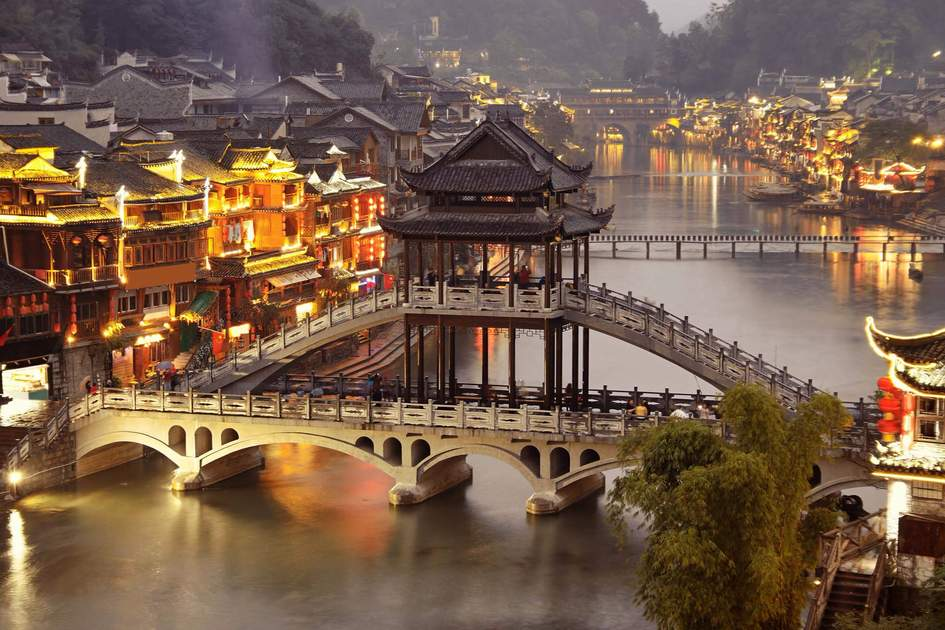 Fenghuang (Phoenix) ancient town at night