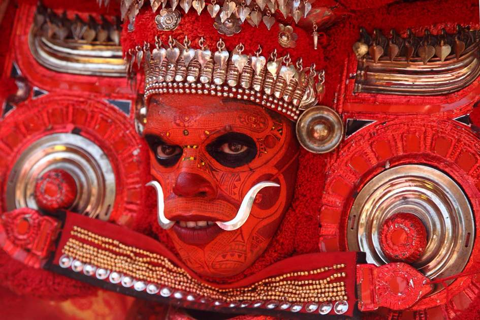 Theyyam ritual practiced in Kannur, North Kerala, India
