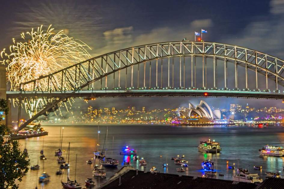 Sydney New Year Eve Fireworks Display Show