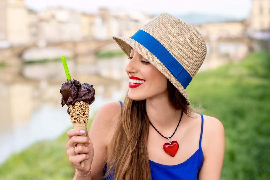 Enjoying a gelato in Florence. Photo: Shutterstock