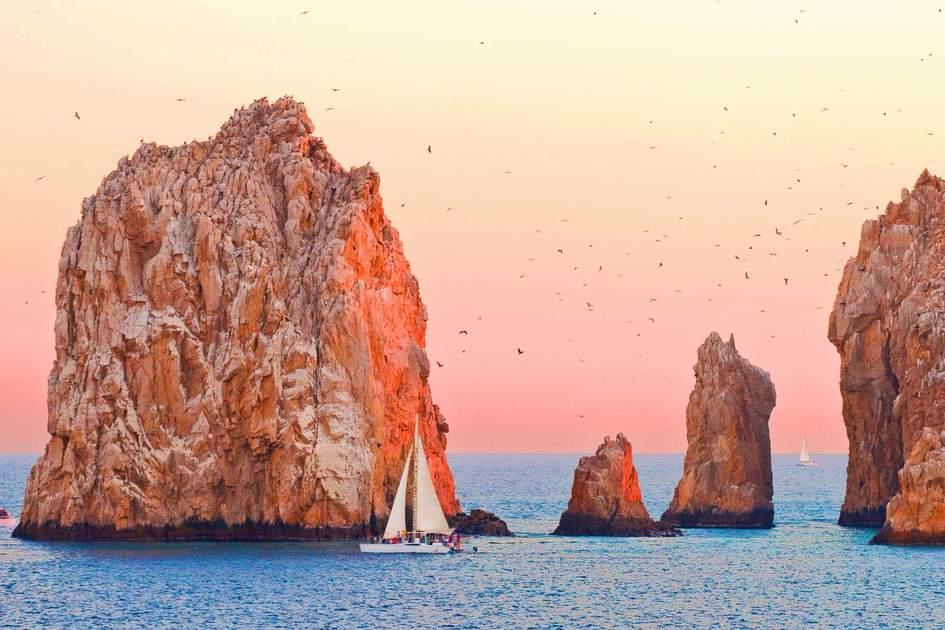 Sailing at sunset, Cabo San Lucas, Mexico