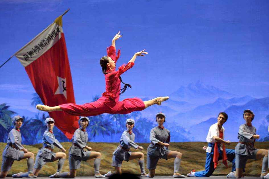The National Ballet of China, performing 'The Red Detachment of Women' in Chengdu, China