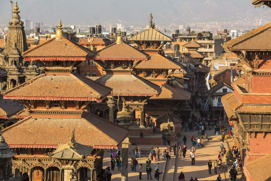 View of the Patan Durbar Square