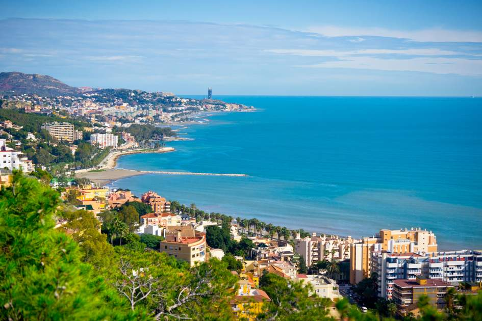 A beautiful view over the city of Malaga, Spain