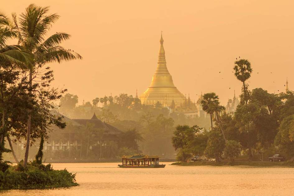 Shwedagon Pagoda in Yangon City, Myanmar