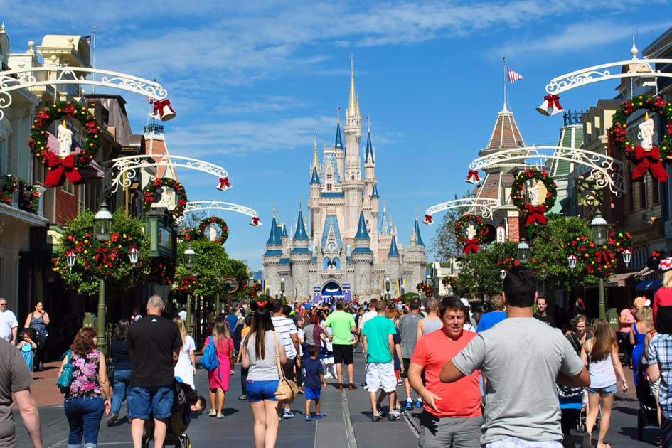 Orlando Magic Kingdom Crowd On The Main Street Photo Christian Benseler Flickr