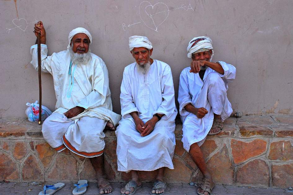 Passing time at the market in Nizwa, Oman
