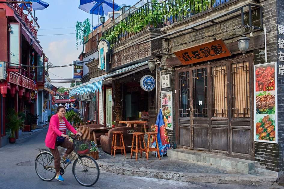Cycling through a Beijing hutong