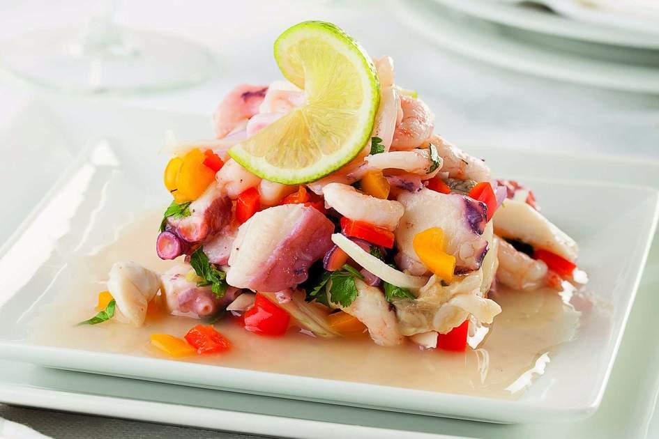 Peruvian seafood ceviche. Photo: Shutterstock