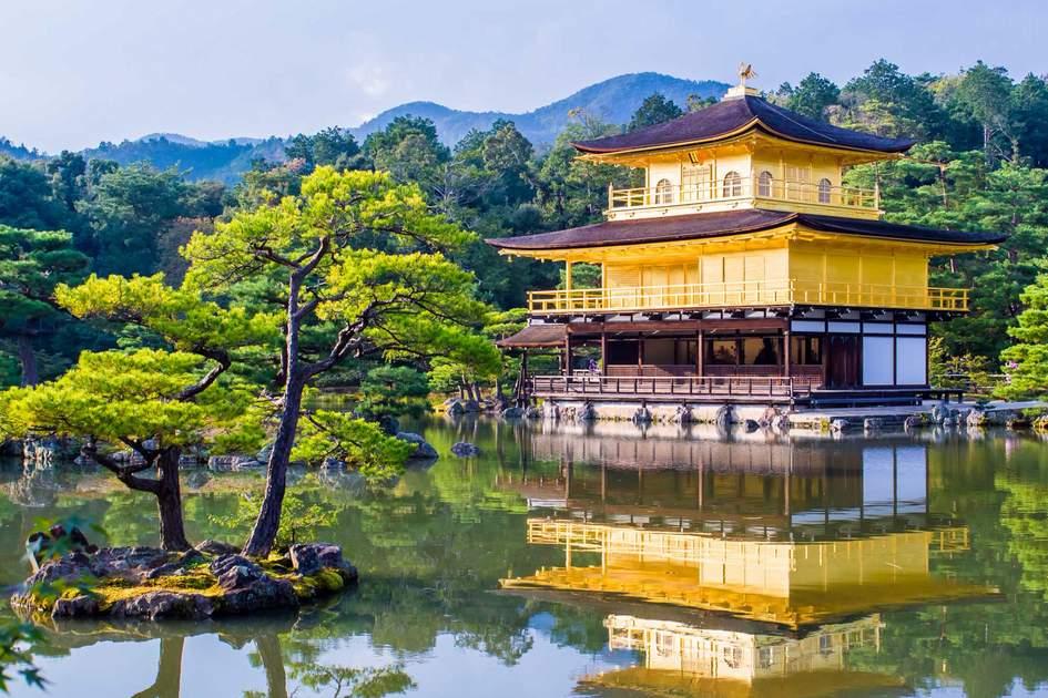 Kinkaku-ji, the Golden Pavilion, a Zen Buddhist temple in Kyoto