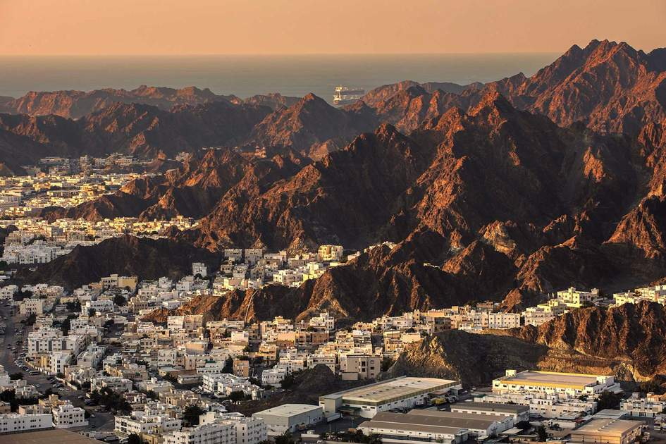 Evening cityscape of Muscat, Oman