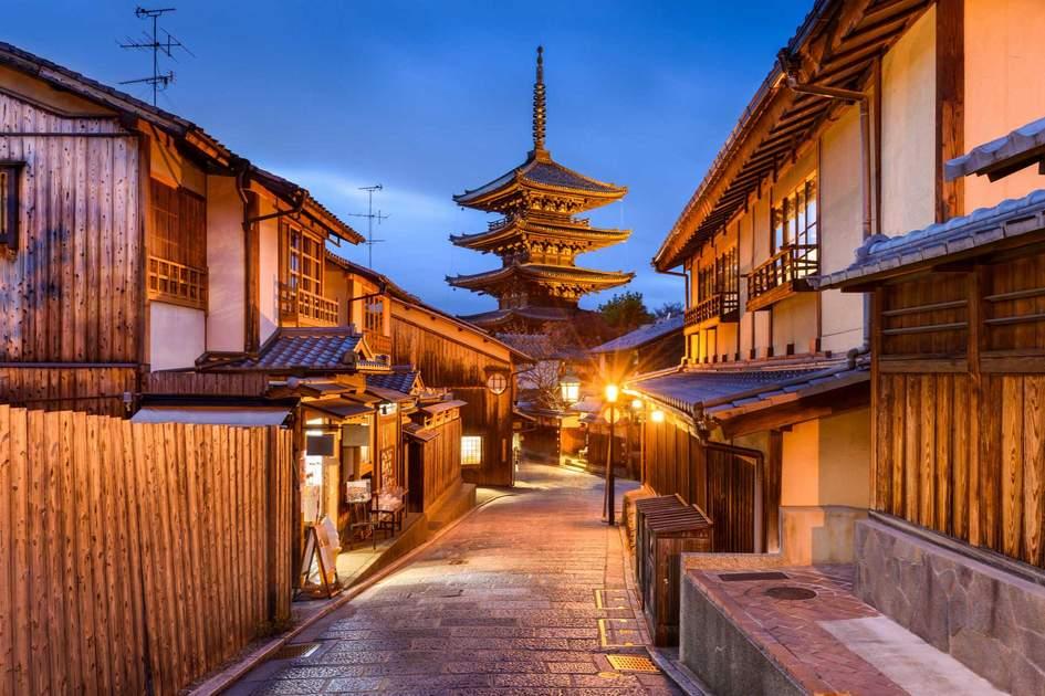 Kyoto, Japan old city at Yasaka Pagoda. Photo: Shutterstock