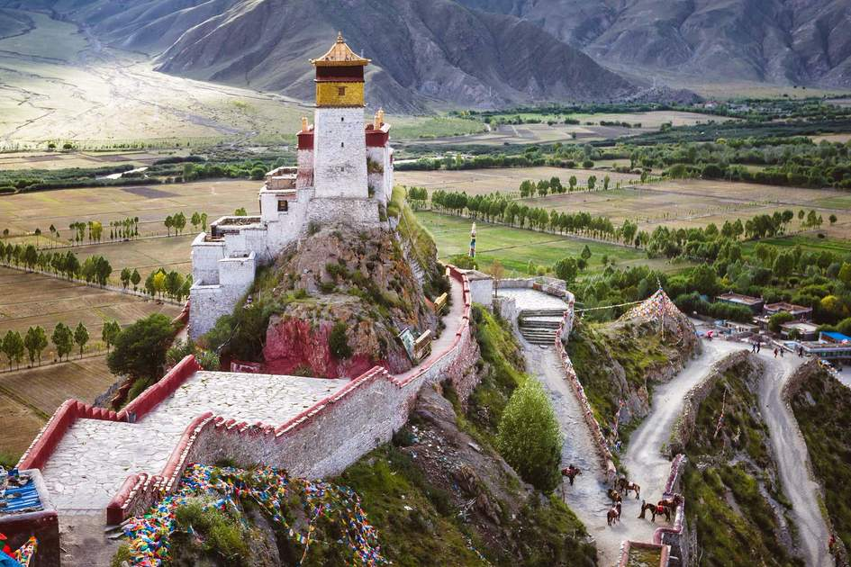 The Yumbulagang Palace overlooking the Tsetang valley in Tibet