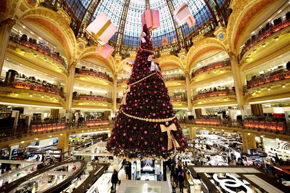 The Christmas tree at Galeries Lafayette, Paris
