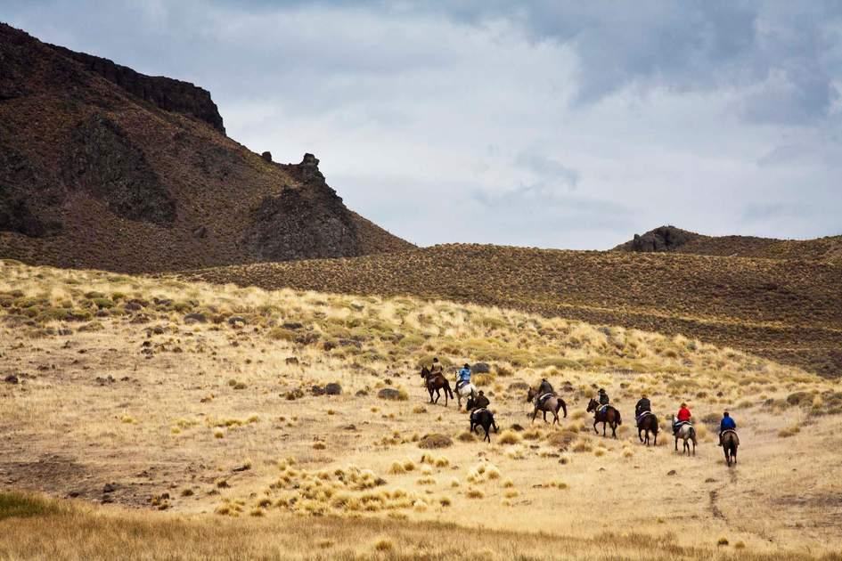 Horseback riding, Patagonia, Argentina.