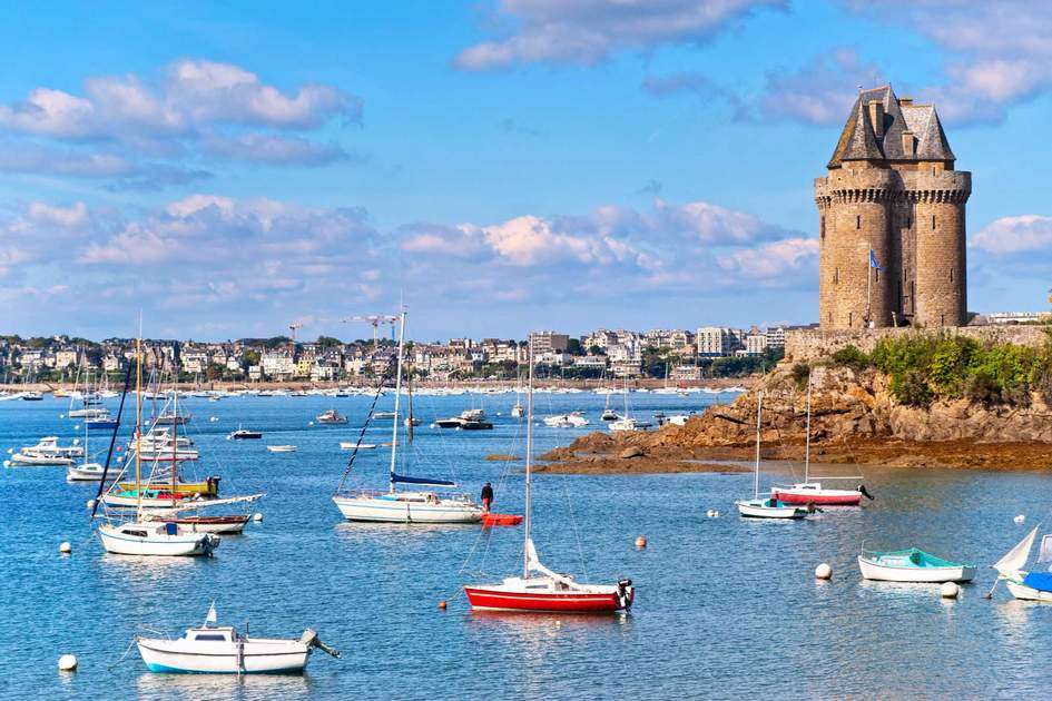 Solidor tower on atlantic coas in Saint Malo, Brittany, France