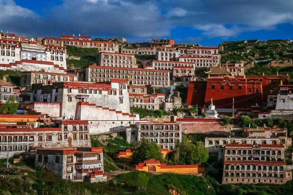 Gyantse monastery near Lhasa in central Tibet