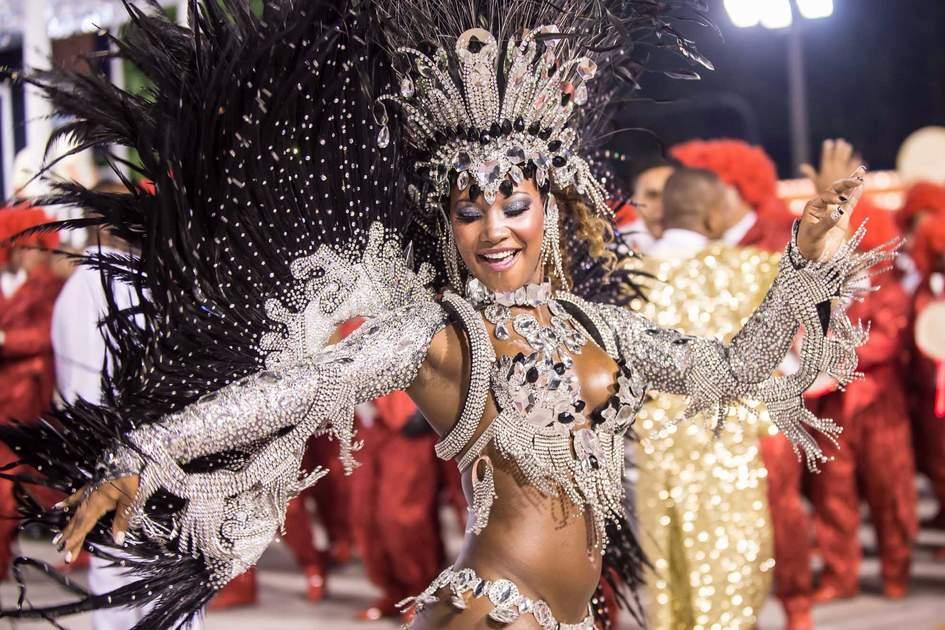 Samba School parade in Sambodromo, Rio de Janeiro. Photo: Shutterstock