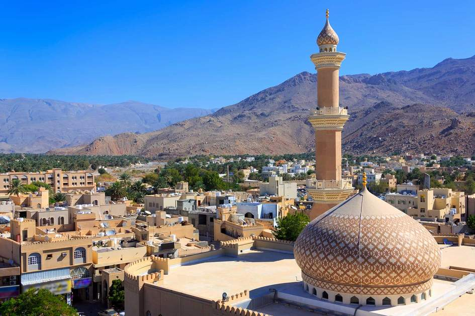 Beautiful panorama of Nizwa, Oman