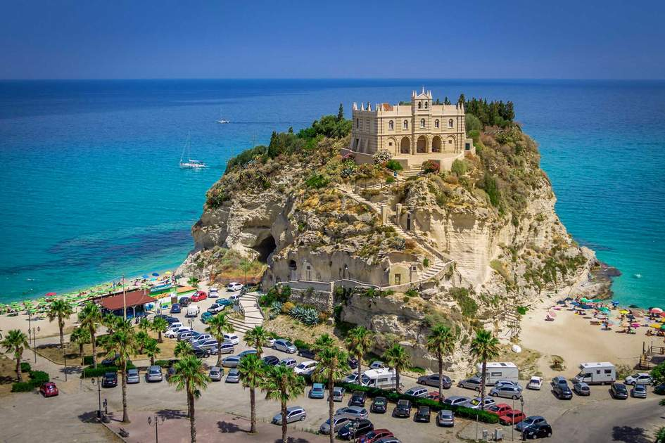 Santa Maria dell'Isola, Church in Tropea beach - Calabria, Italy
