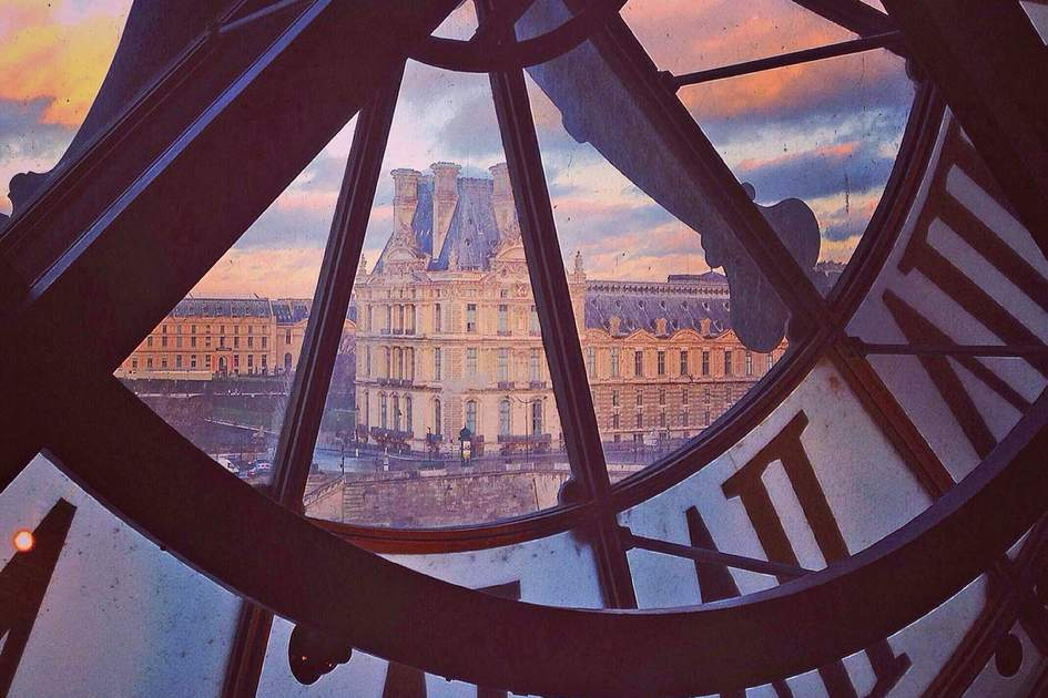 View of Paris from Orsay museum
