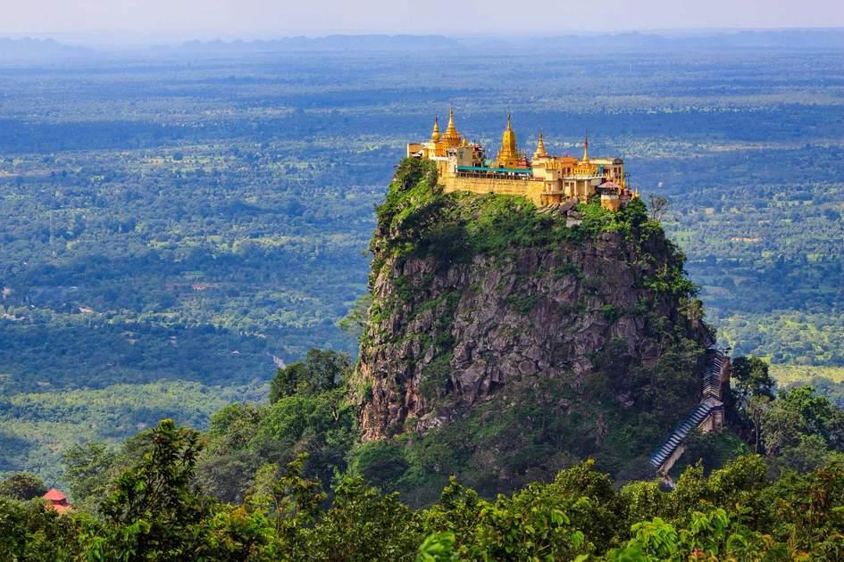 Mount Popa in Bagan, Myanmar