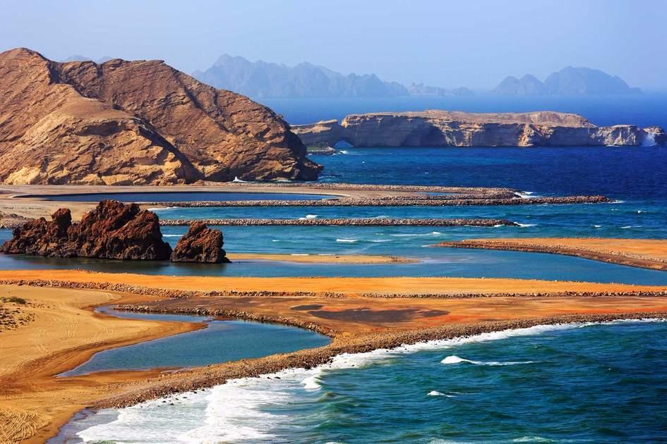 Amazingly beautiful Yiti beach near to Muscat, Oman