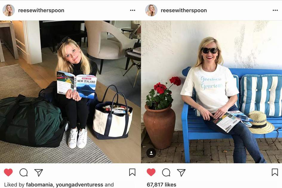 Reese Witherspoon takes Insight Guides to New Zealand