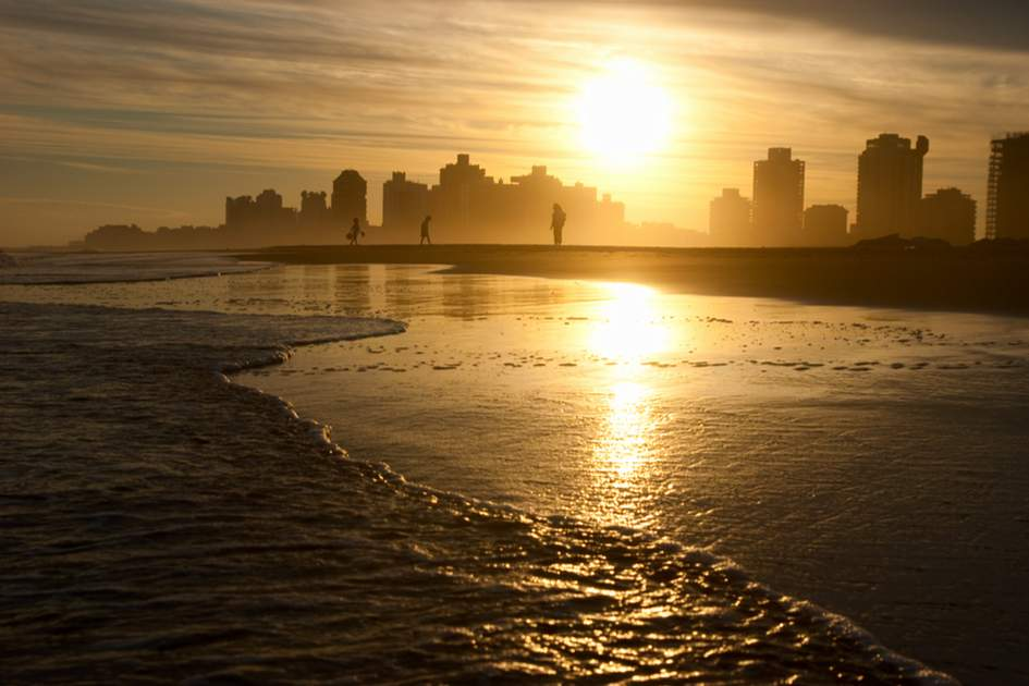 A sunset over one of Uruguay's beautiful beaches.