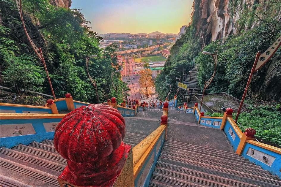 Stairs at Batu Caves, Malaysia.