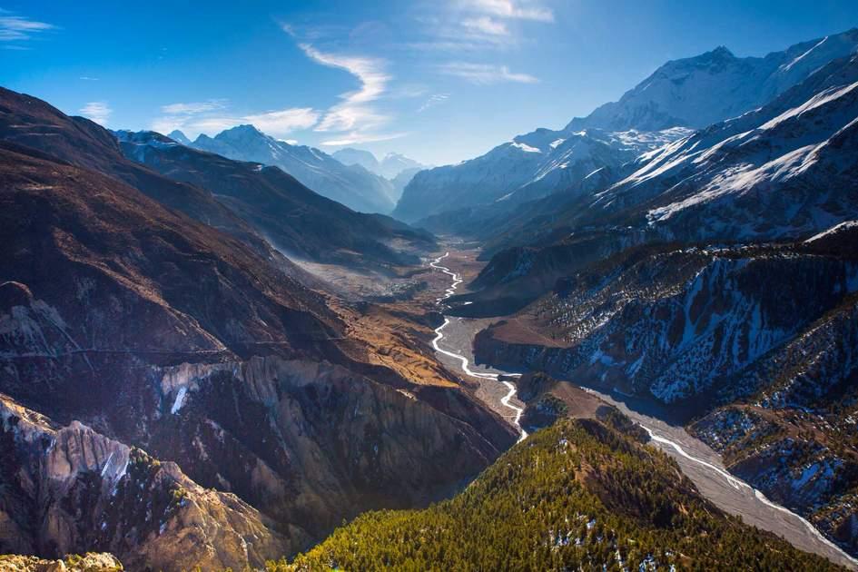 Beautiful landscape in Himalayas mountains, Annapurna trek, Nepal