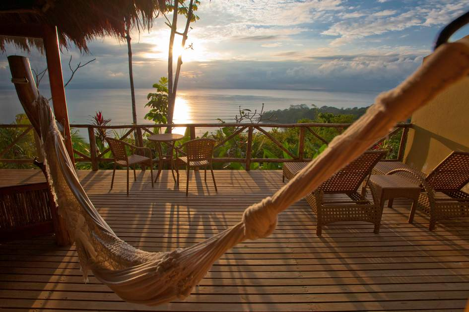 Medium image of enjoy a stunning sunset from your own private deck and hammock  photo  lapa rios