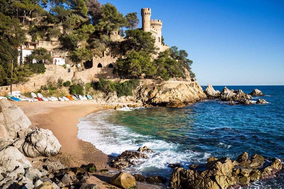 Landscape of Lloret de Mar Castle near Girona. Photo: Shutterstock
