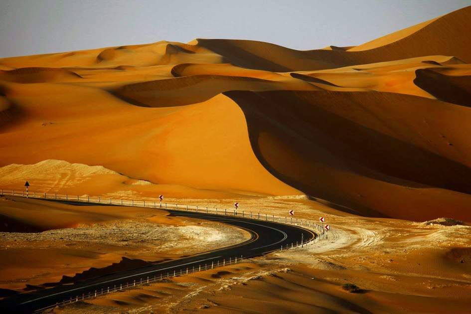 Sand dunes in Liwa, UAE
