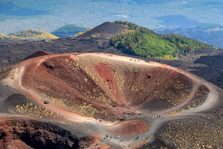 Collapsed volcano cone, Mount Etna. Photo: Shutterstock