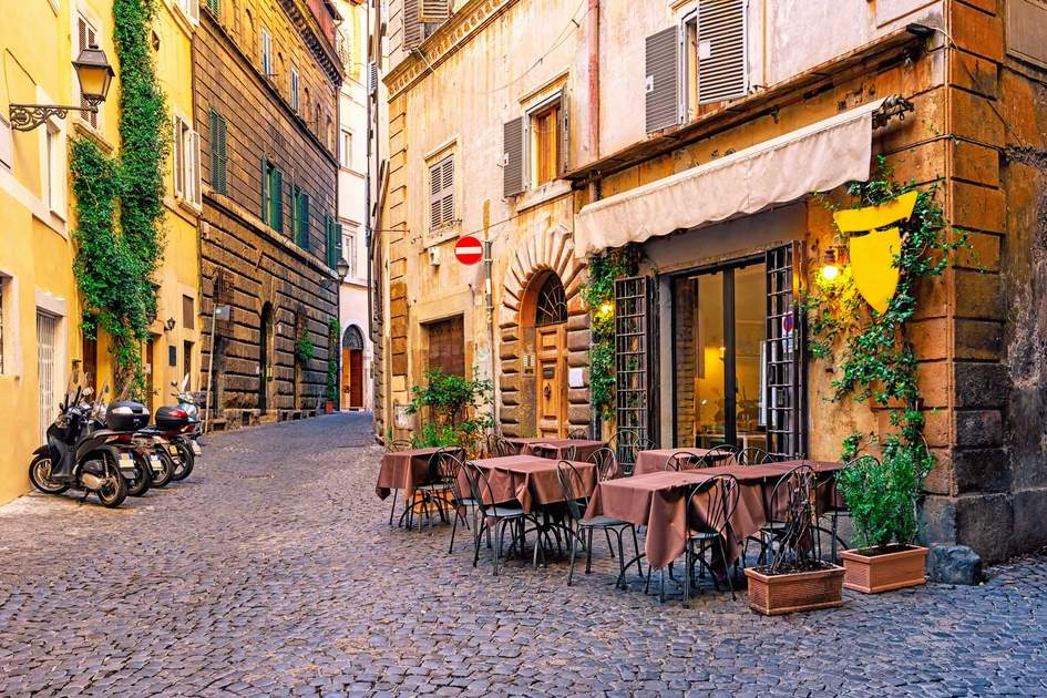 View of old cozy street in Rome. Photo: Shutterstock