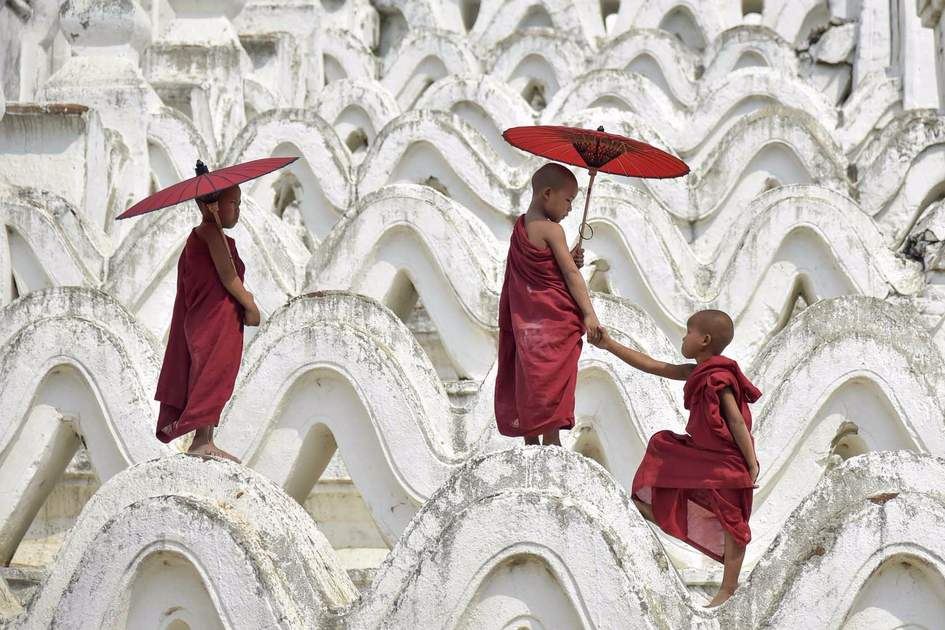 Novices in Myanmar. Photo: Shutterstock