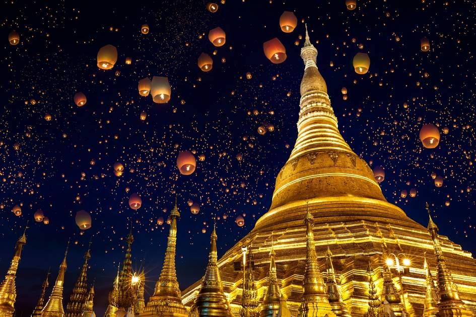 The Shwedagon Pagoda, one of David Abram's Myanmar highlights