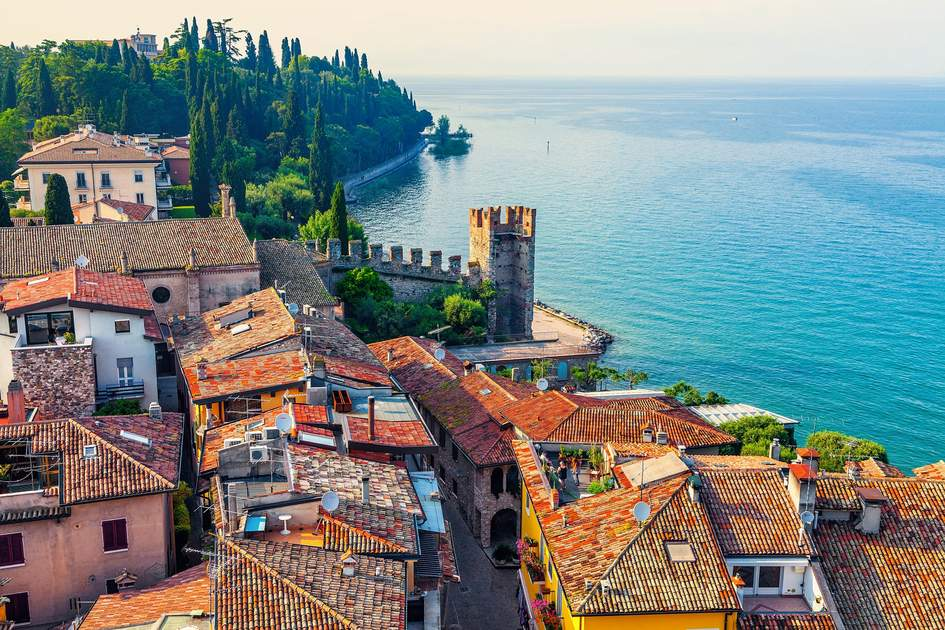 The town of Sirmione overlooking Lake Garda. Photo: Shutterstock