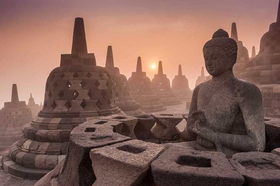 Buddist Temple Borobudur Taken, Yogyakarta, Indonesia. Photo: Shutterstock