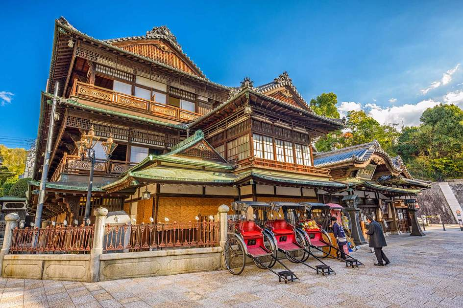 Dogo Onsen bath house, one of the oldest bath houses in Japan. Photo: Shutterstock