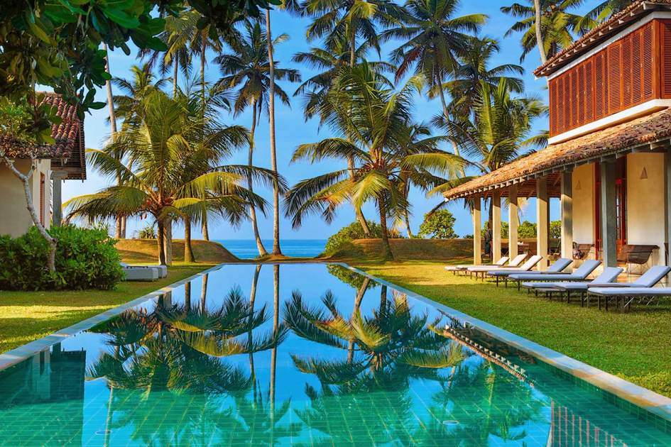 Frangipani Tree pool and an ocean view. Photo: Press release