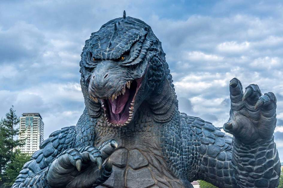 Godzilla statue in Roppongi, Tokyo. Photo: Shutterstock
