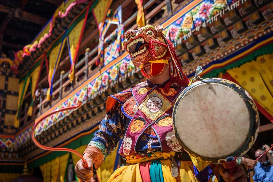 Celebrating yearly Paro Tsechu festival in Bhutan. Photo: Shutterstock