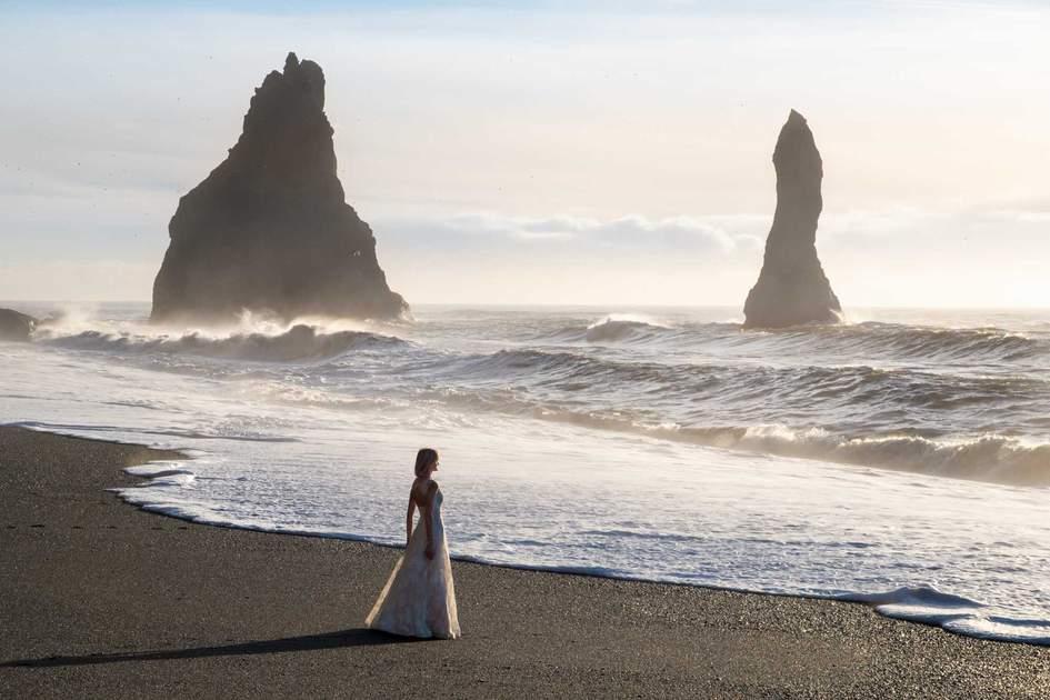 The black-sand beach at Reynisfjara, Iceland. Photo: Shutterstock