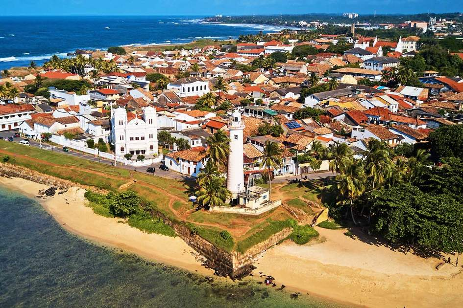 Galle Fort from the air. Photo: Shutterstock