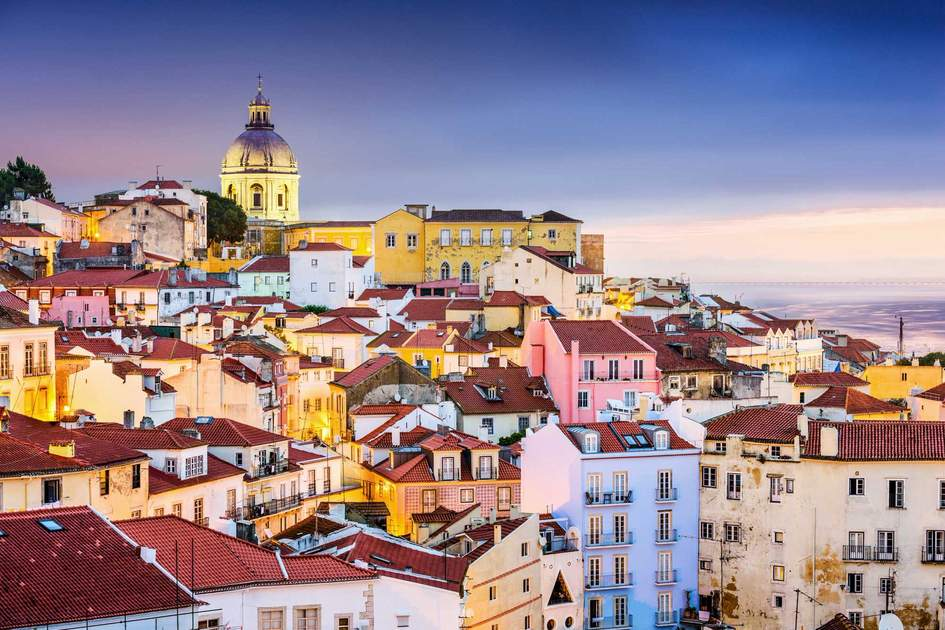 Twilight cityscape of the Alfama District, Lisbon. Photo: Shutterstock
