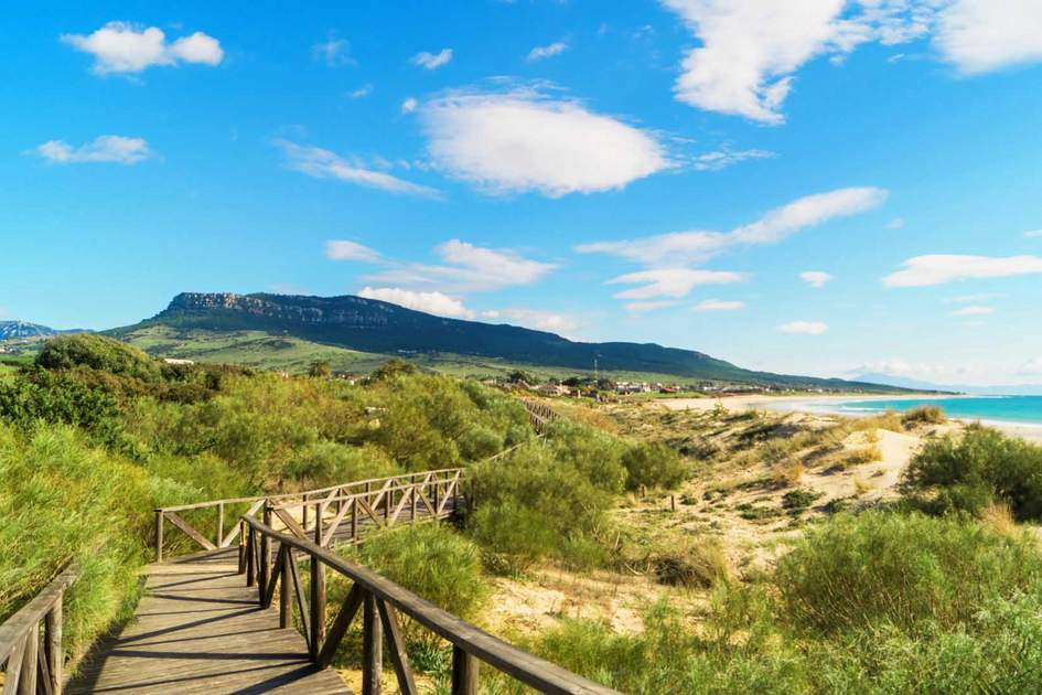 Walkway leading to Bolonia Beach, Costa de la Luz, Cádiz – one of the best hidden beaches in Andalucía. Photo: Shutterstock
